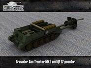 Crusader Gun Tractor & 17-pounder render 1
