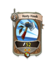 Melee 1 CARD HERO HASTY HAWK