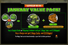 January Value Pack 40-54