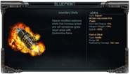Incendiary Shells Stats