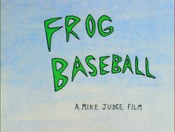 Frog Baseball Title Card