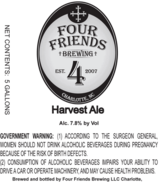 Four Friends Harvest Ale