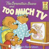 Berenstain bears and too much tv cover