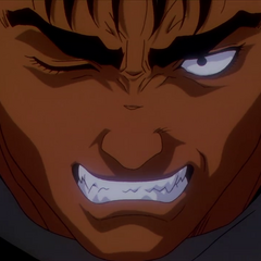 Guts is angered.