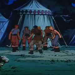 The men gather to kill Guts.
