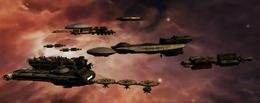 Colonial Fleet in Alpha Ceti System
