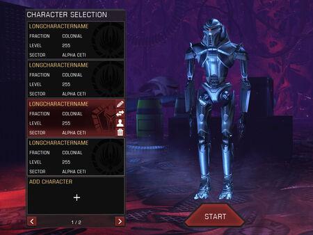 Chracter Selection Draft