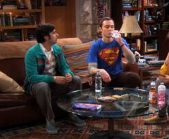 Sheldon drinks raj water