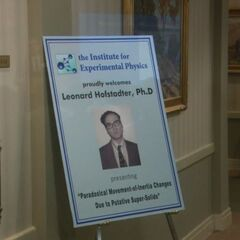 Institute for Experimental Physics presentation by Leonard Hofstadter.