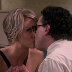 Penny's mind is on Leonard kissing Mandy.