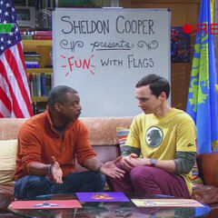 LeVar Burton being a guest on Fun with Flags.