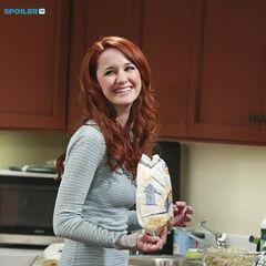 Emily in her kitchen.