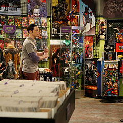 Sheldon and Leonard meet Wil Wheaton in the comic book store.