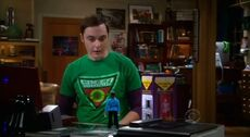 S5EP20 - Sheldon looking at his Spock doll