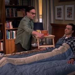 Leonard serving Sheldon the wrong soup.