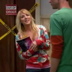 Penny and Sheldon getting their mail.