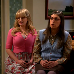 Amy is surprised at Penny jumping on Lucy, Raj's ex.