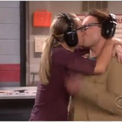 Leonard and Penny kiss