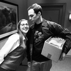 The actors, not Shamy together. Thanks, Mayim!!