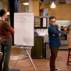 Sheldon's humming starting to irritate Leonard.