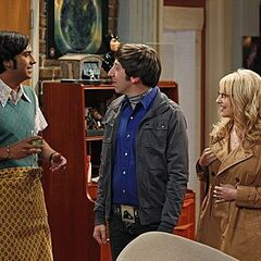 Raj, Howard and Bernadette.