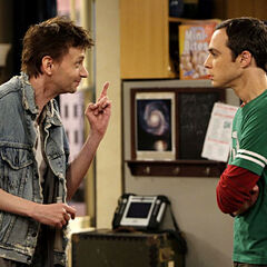 Sheldon and his phony cousin Leopold.
