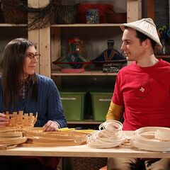 Sheldon makes a 16th century Chinese warrior hat.