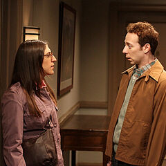 Amy and Stuart are interrupted by Sheldon after their date.