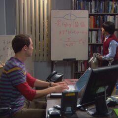 Dennis Kim inspecting Sheldon's work.