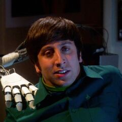 Howard has an epiphany about what else he can do with his robot hand.