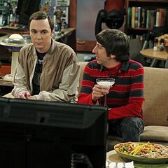Howard and Sheldon at Raj's apartment.