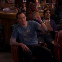 Sheldon saluting Amy.