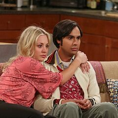 Penny consoling Raj after Lucy breaks up with him.