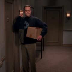 Sheldon forcing himself to knock only once.