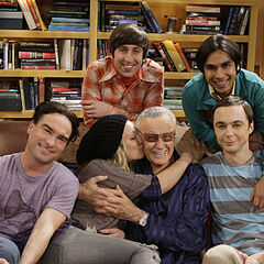 Stan Lee with the gang.