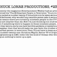 Chuck Lorre Productions, #233.