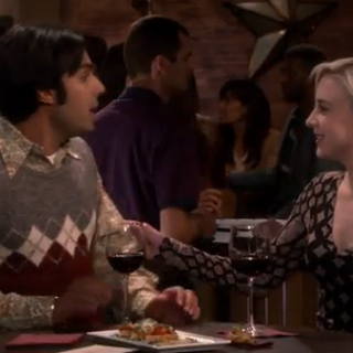 Meeting Raj's friend Claire.