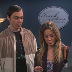 Penny helping Sheldon shop for an apology present for Amy.