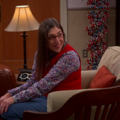Amy smiling at Sheldon.