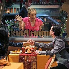 Penny interrupts Priya and Leonard's date.
