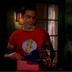 Sheldon wants to give his mother Howard's presents to her.