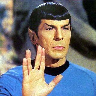 Spock - Live long and prosper.