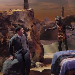 Sheldon experiences Gorn-infested REM sleep again.