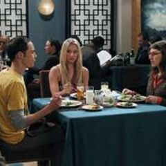 Sheldon and Amy's first date with Penny as a