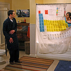 Sheldon catches them in the shower.