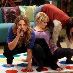 Penny's Posse playing Travel Twister.