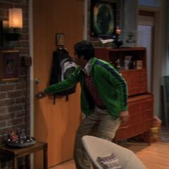 Raj gets the door.