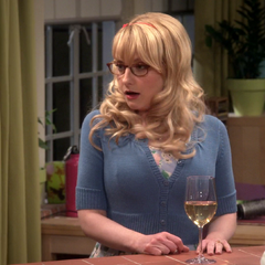 A really shocked Bernadette after Sheldon tells her and Penny about planning on sleeping with Amy.