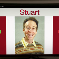 Stuart on the app.