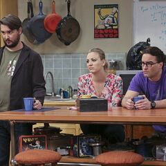 Watching Sheldon being interviewed.